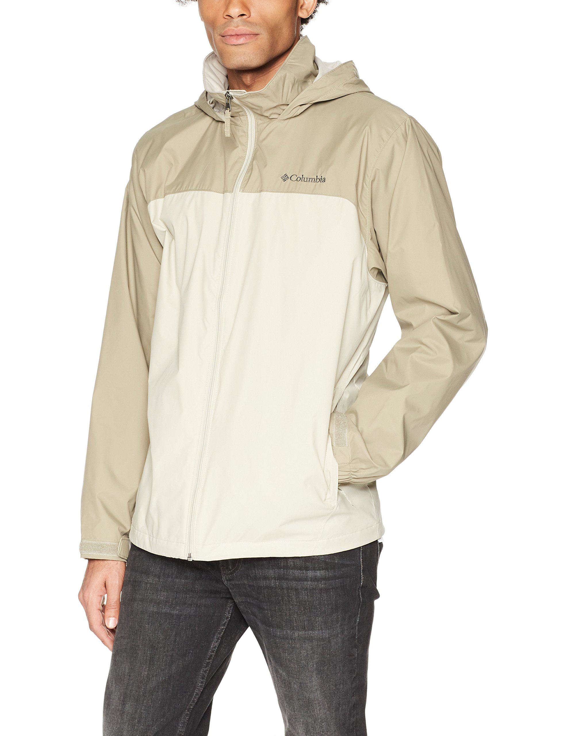 Columbia Men's Glennaker Lake Lined Rain Jacket, Fossil, Tusk, M by Columbia