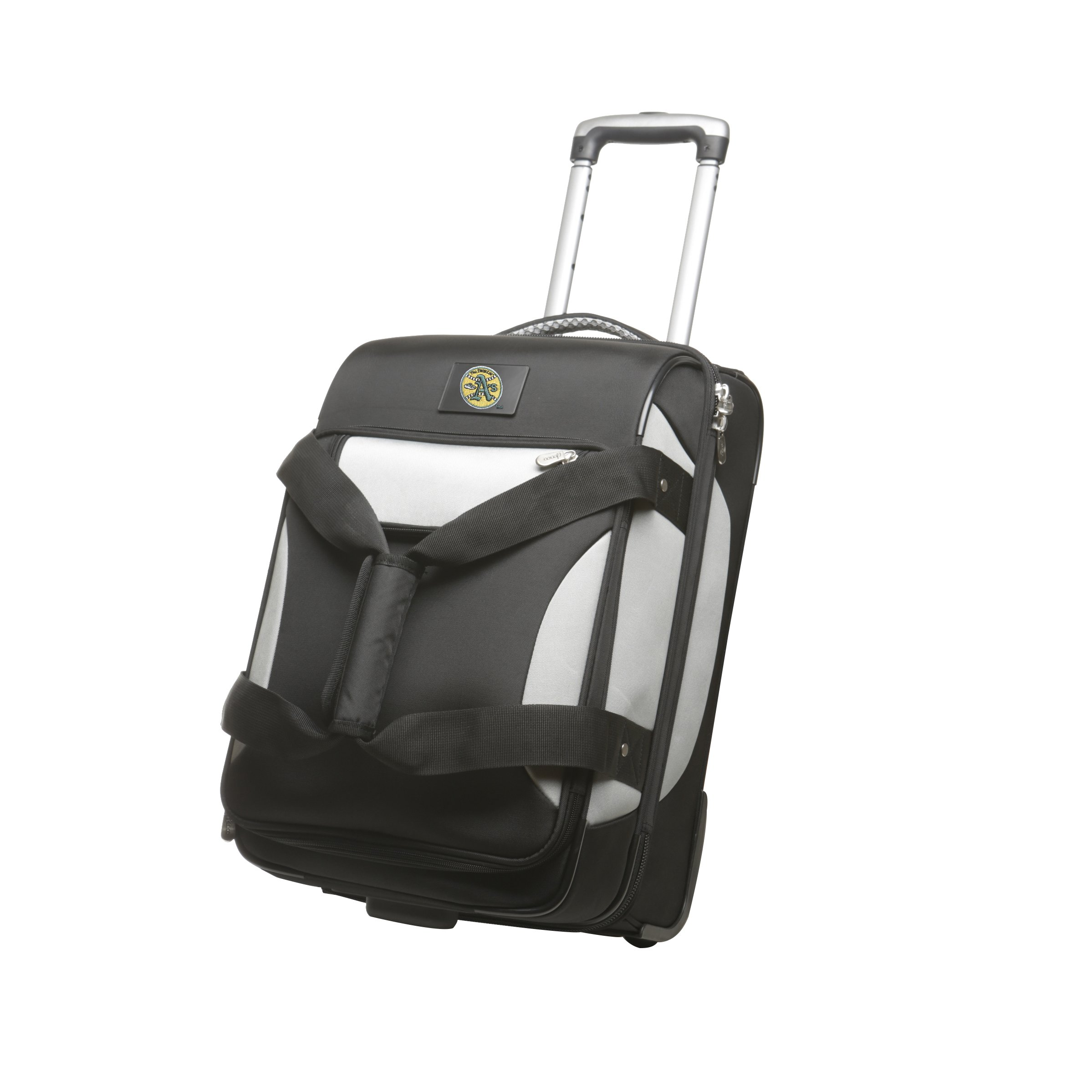 MLB Oakland Athletics Drop Bottom Rolling Carry-On Retro Travel Bag