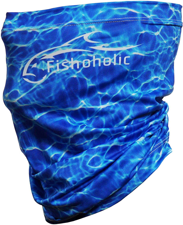 Divers,Headwear,Face Mask,Bandana,Buff UV Salt Water Fishing Life US USA Blue