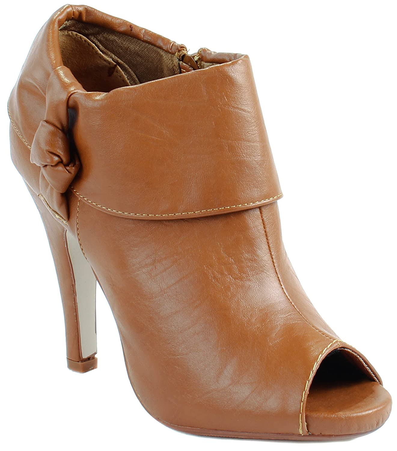 Amazon.com | Forever Womens Cynthia-30 High Heel Peep-Toe Pumps with Knot Strap on Side | Boots
