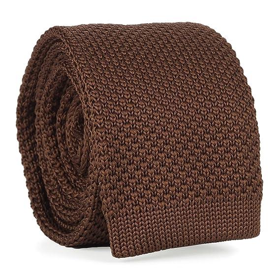 cravateSlim Corbata de Punto Marrón Claro: Amazon.es: Ropa y ...