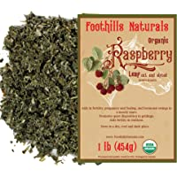 Foothills Naturals Raspberry Leaf Tea Organic Cut and Sifted - 1 Pound (454g) Equine Herb for Mares, Geldings, Stallions. Nutritional, Moodiness Control