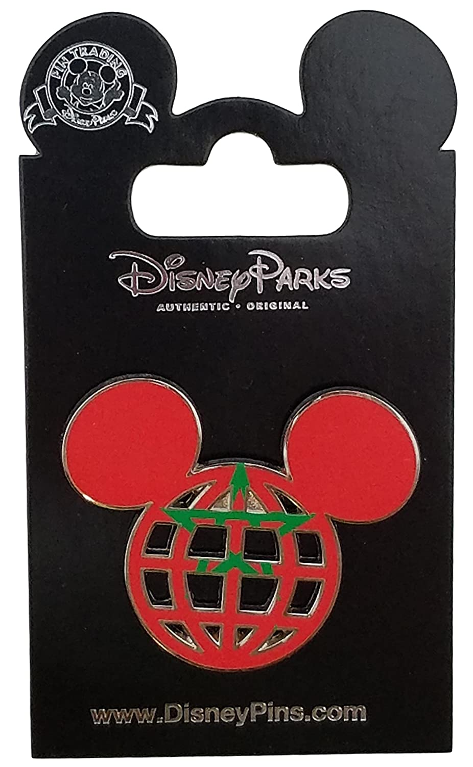 Disney Pin - Mickey Icon Morocco Flag Lattice
