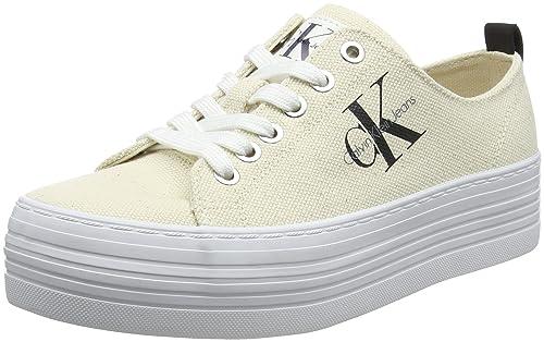 Calvin Klein Jeans Zolah Heavy Canvas, Zapatillas para Mujer, Blanco (Ntw 000)