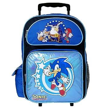 34526f71759e Amazon.com | Sonic The Hedgehog Large Rolling Backpack #SH10844 ...