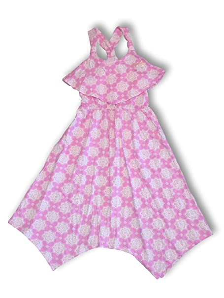 e3209cda9 Amazon.com: Juicy Couture Girls Summer Popover High-Low Sun Dresses  Colorful & Stylish: Clothing
