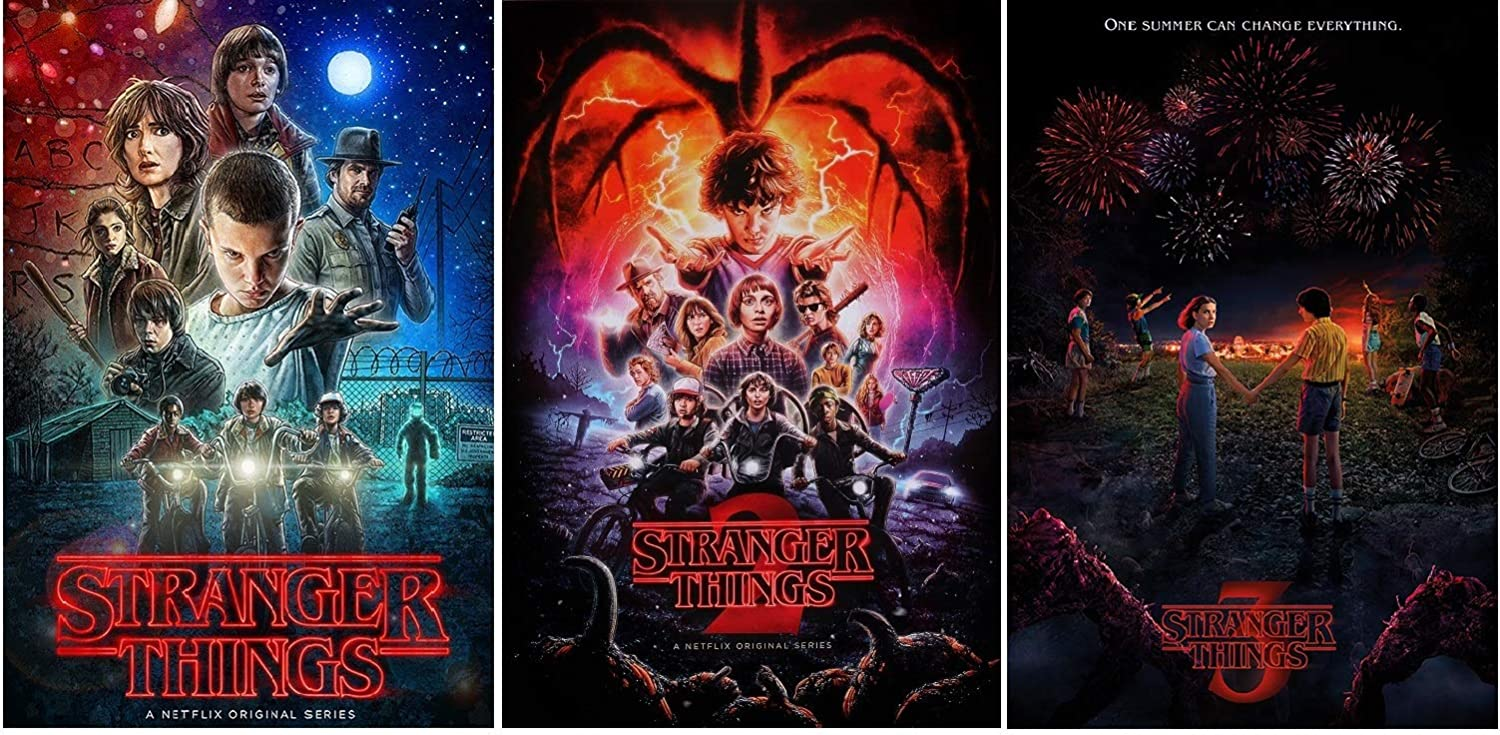 Amazon Com Stranger Things Posters 3 Posters Collector Set