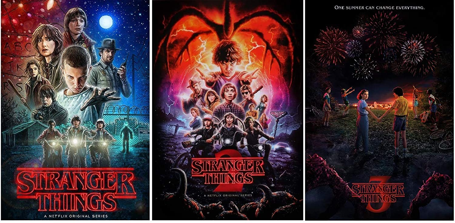 Stranger Things Posters - 3 Posters Collector Set (Season 1, 2, and 3) Size Each Poster 24x36
