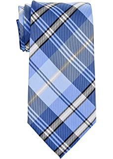 Retreez - Corbata de microfibra de cuadros elegante, 5 cm Azul ...