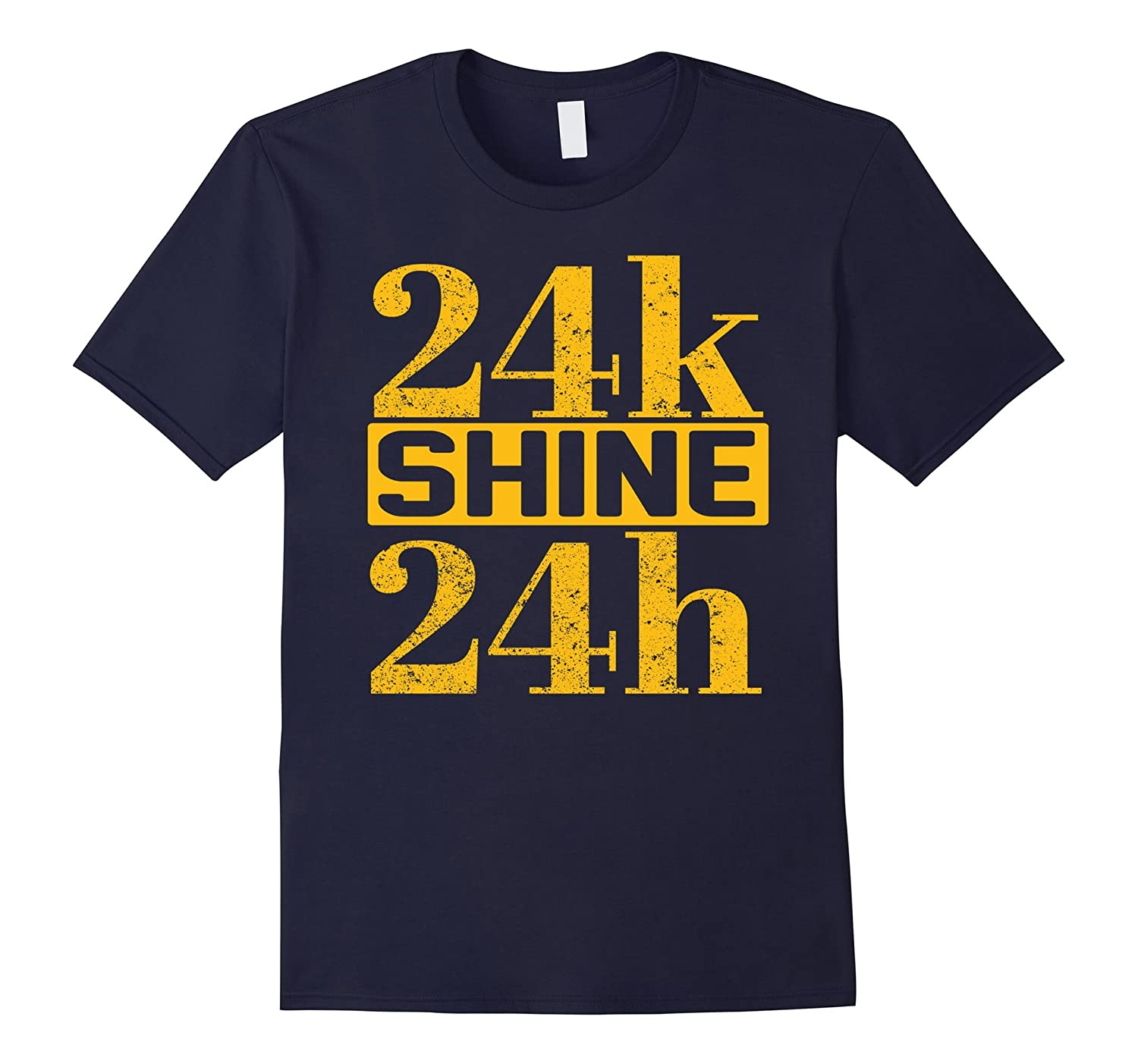 24k Shine 24h T shirt - Cool Distressed Design-Art