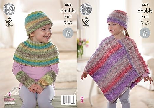 King Cole Knitting Pattern Child Poncho Neck Wrist Warmer 4575