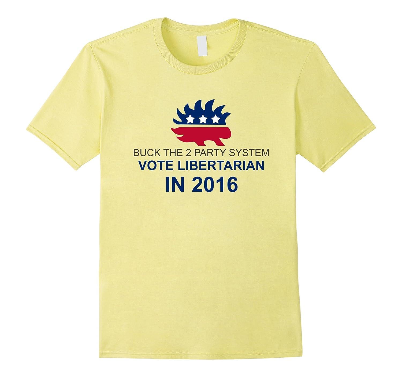 Vote Libertarian Shirt - Buck 2 Parties Gary Johnson Shirt-RT