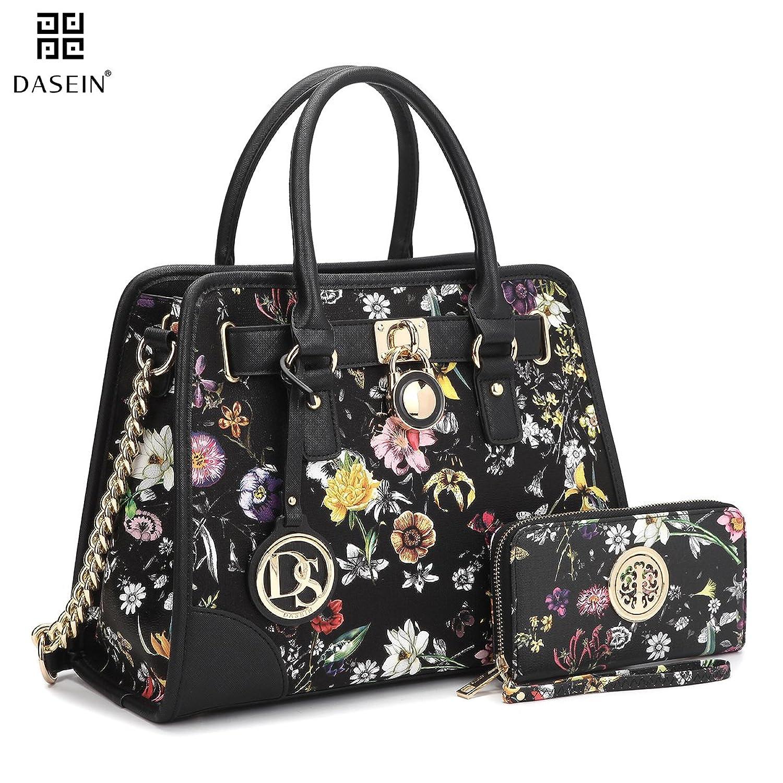 Dasein Womenu0027s Designer Handbags Padlock Belted Satchel Bags Top Handle Handbag  Purse Shoulder Bag W/