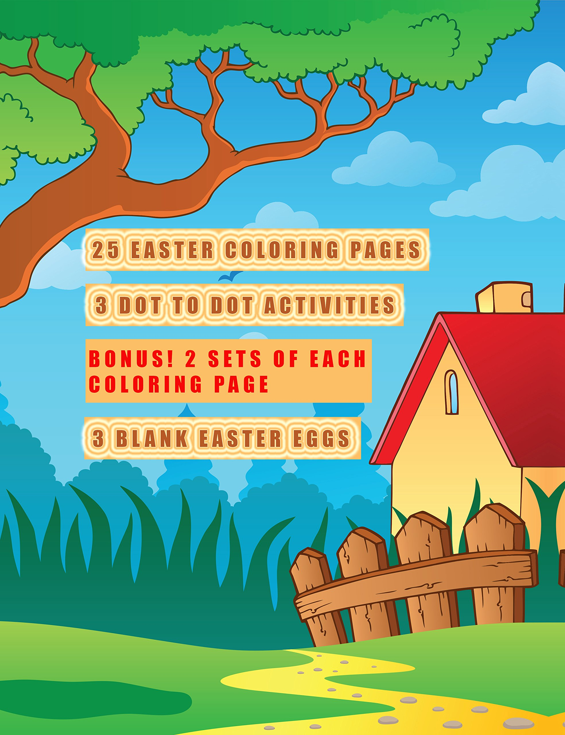 Easter Coloring and Activity Book for Kids: Fun Filled Coloring and ...