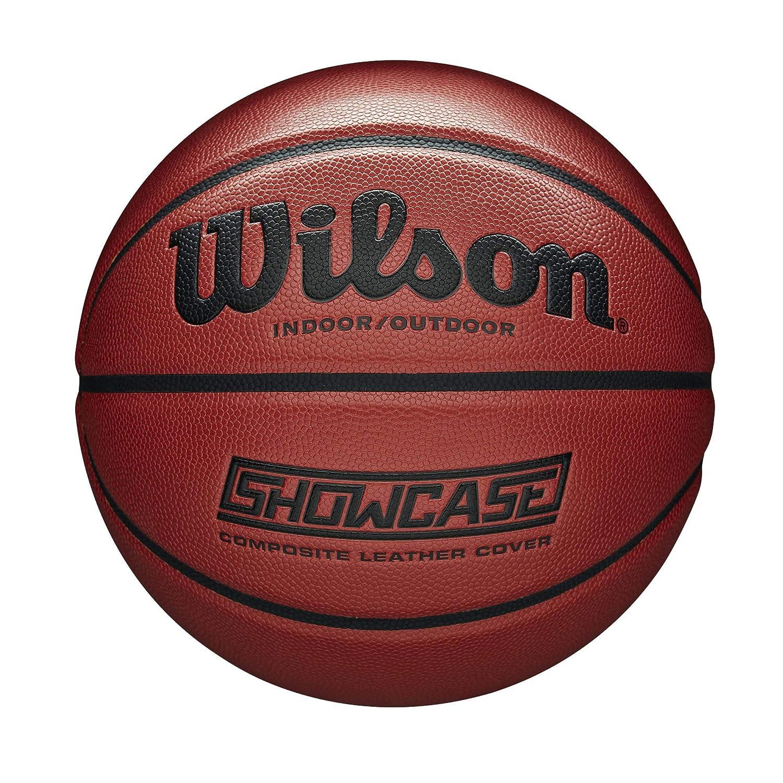 Cuir synth/étique Wilson Taille : 7 WTB2677XB07 Orange Pour adultes Ballon de Basketball Int/érieur et ext/érieur Showcase