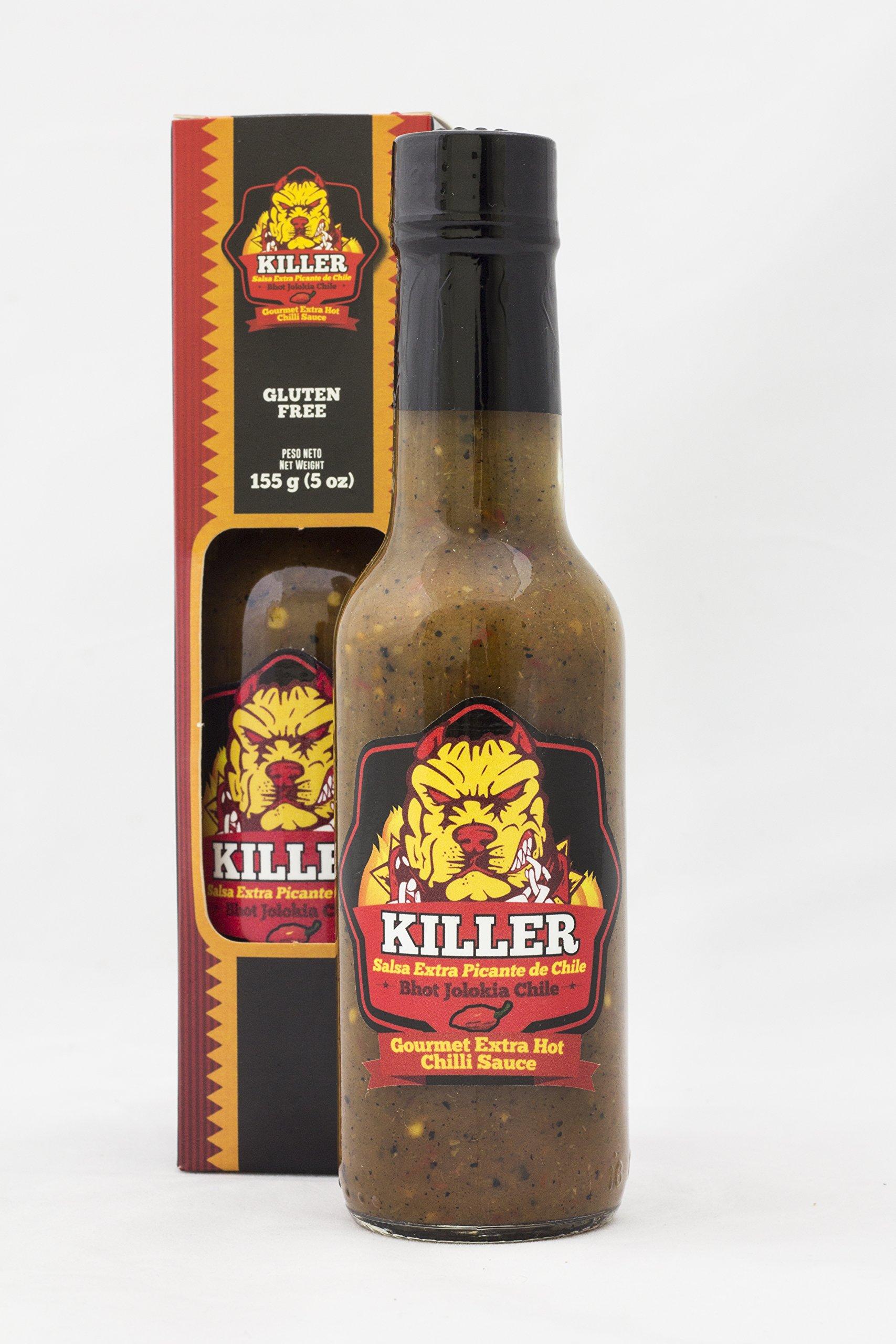 Blue Zone Killer Natural Costa Rican Hot Chili Pepper Sauce - Extra Hot (155g/5oz)