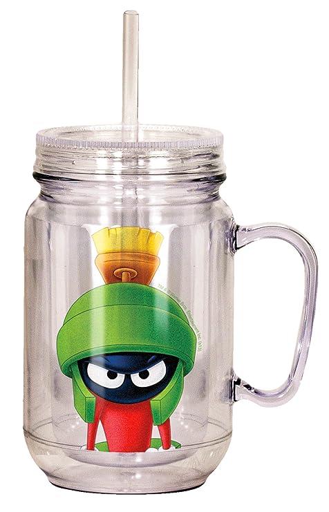 Amazon.com: Looney Tunes Marvin el marciano Mason Jar, Verde ...