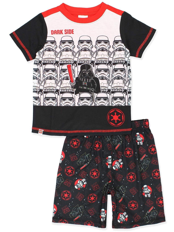 5547acc99 Amazon.com: Lego Star Wars Boy's 2 Piece Short Sleeve Shorts Pajamas Set:  Clothing
