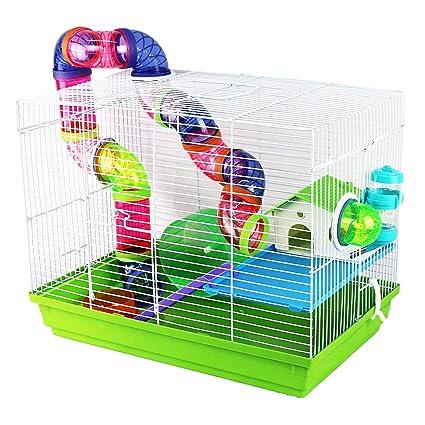 Pet Ting - Jaula para hámster con Tubos para ratón, Color Verde ...