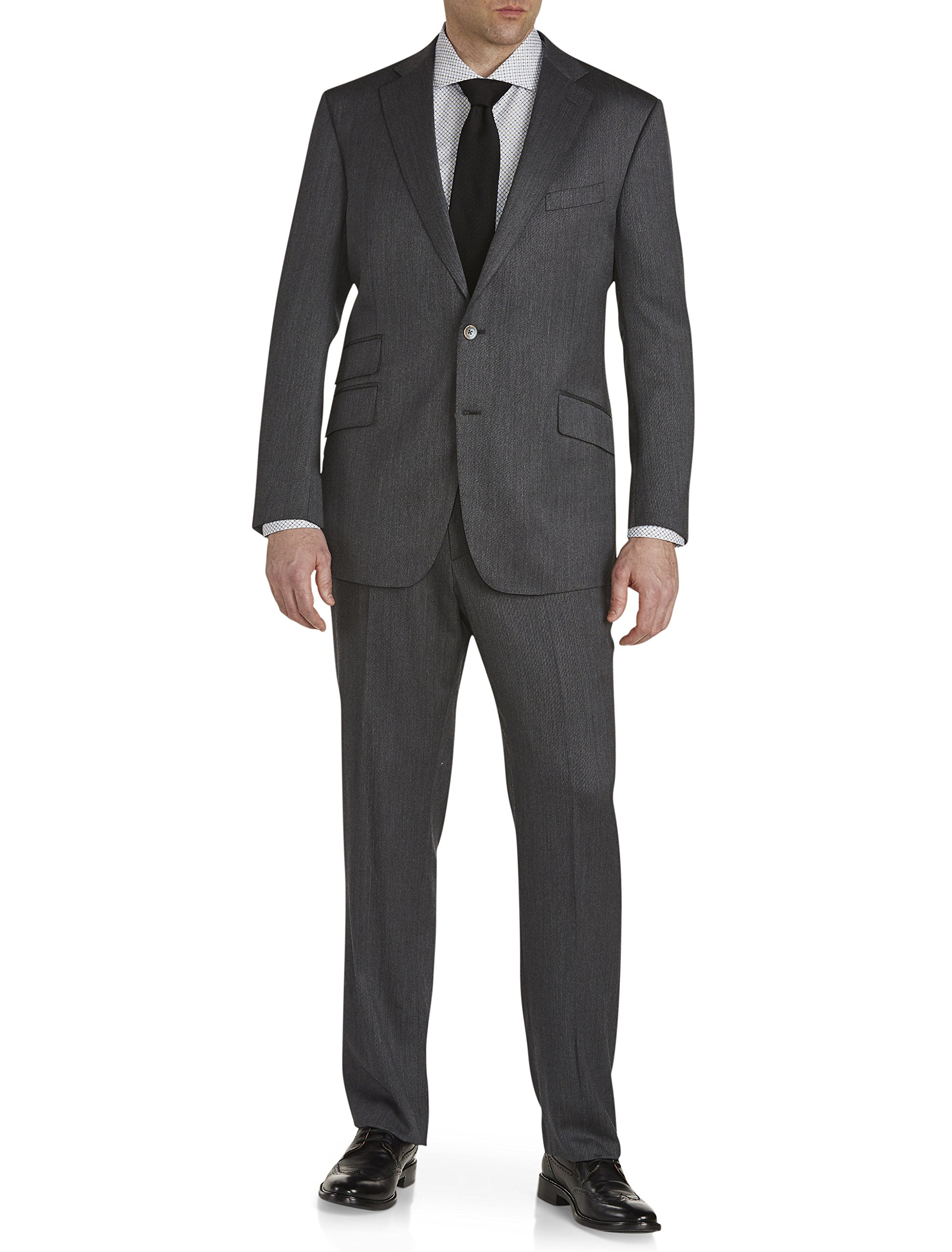 Robert Graham Big and Tall Chyandour Wool Nested Suit, Grey 54 Reg