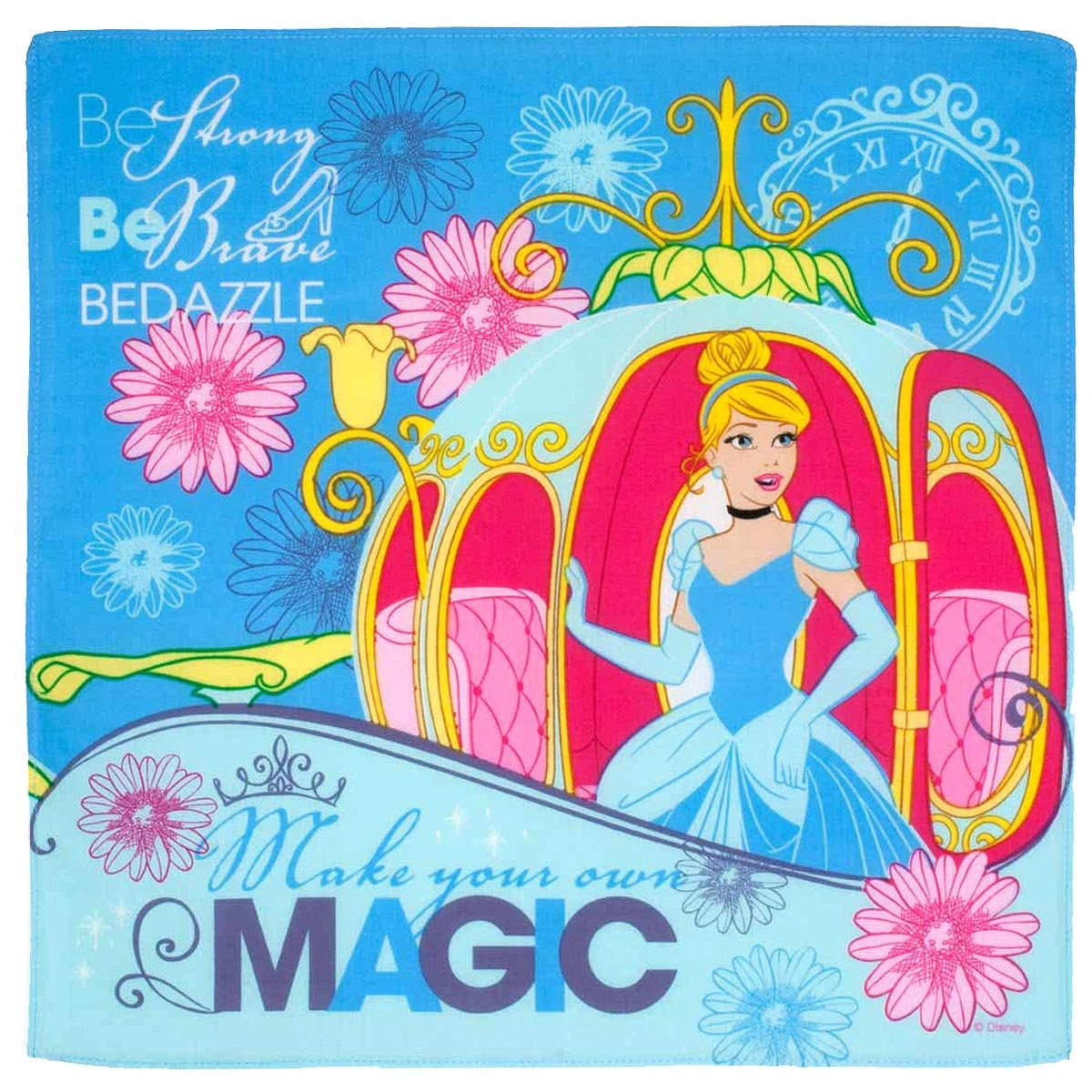 """Princesses"" children's handkerchiefs - 14"" square - 3 units in a bag. Merrysquare"