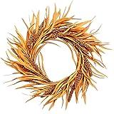 VGIA 14 inch Artificial Fall Wreath Door Wreath Autumn Wreath Havest Wreath Fall Decorations