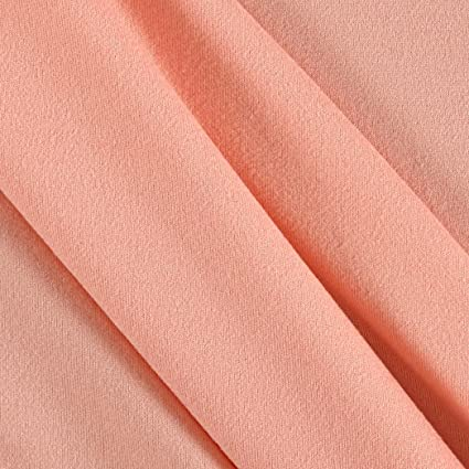 16ee39b0213 Amazon.com: Fabric Merchants Double Brushed Solid Jersey Knit Fabric, Blush  New, Fabric By The Yard