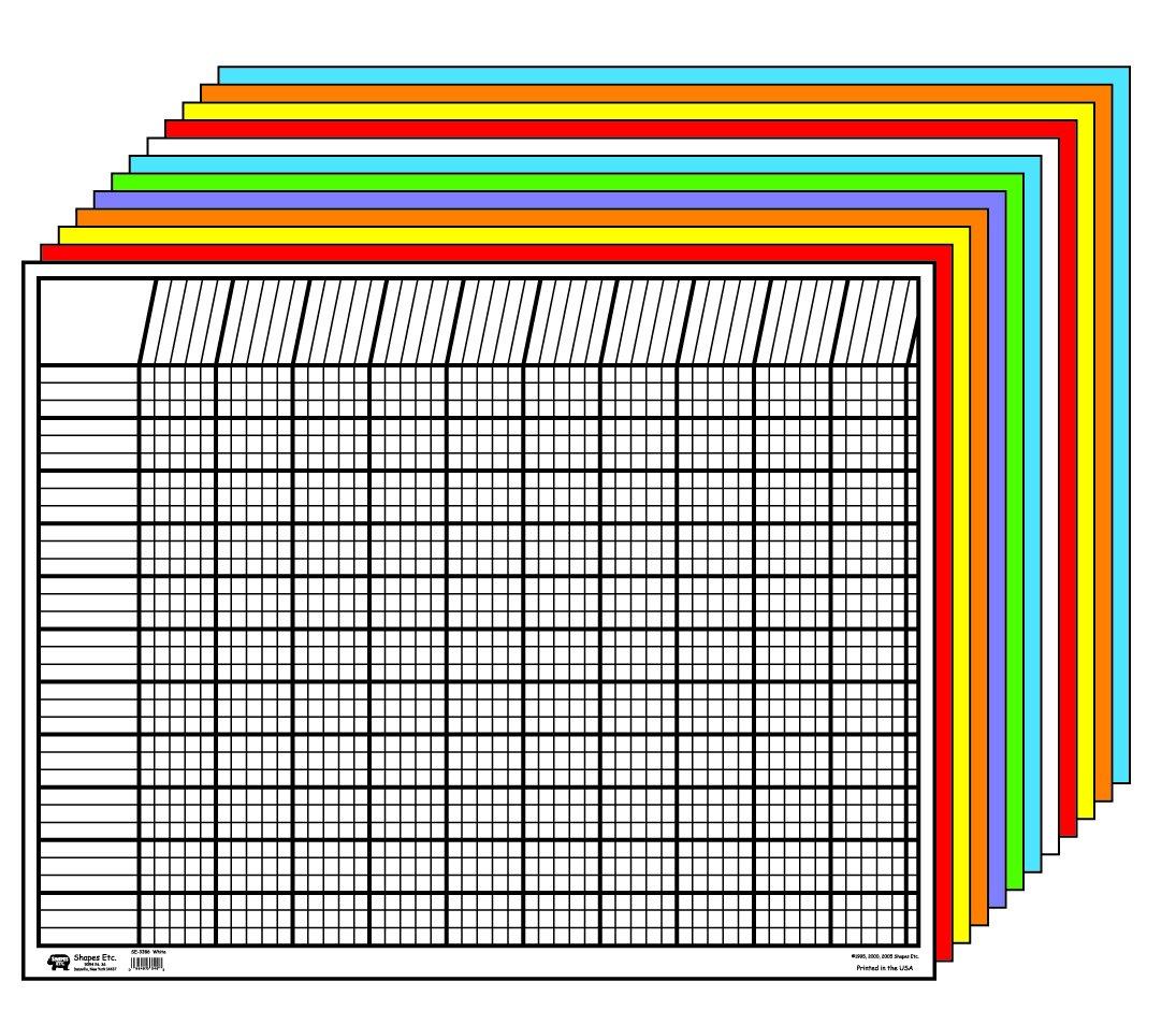 Creative Shapes Etc LLC Creative Shapes Etc Large Horizontal Incentive Chart Set, 28 x 22 Inches, Assorted Color, Set of 12 - SE-367 by Creative Shapes Etc LLC