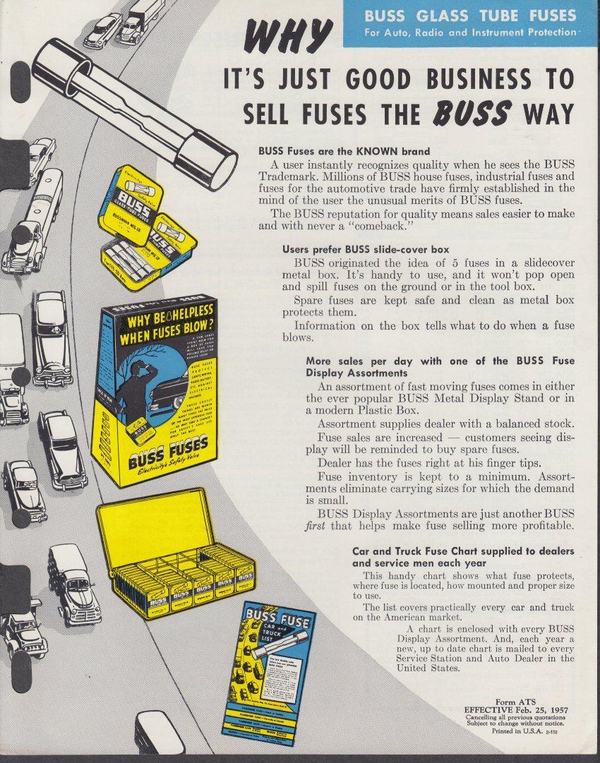 Automotive Buss Fuse Catalog Solution Of Your Wiring Diagram Guide Waytek Glass Tube Automobile Fuses Price List Folder 1957 At Rh Amazon Com Bussmann