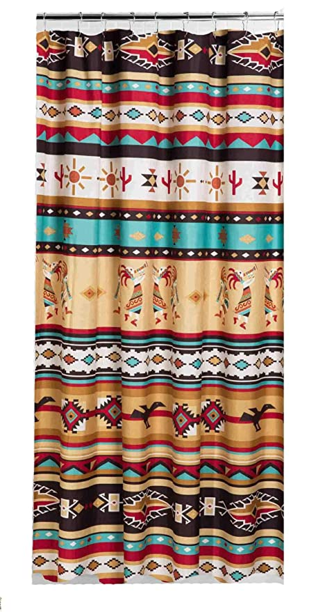 Amazon Southwest KOKOPELLI Fabric Shower Curtain Southwestern