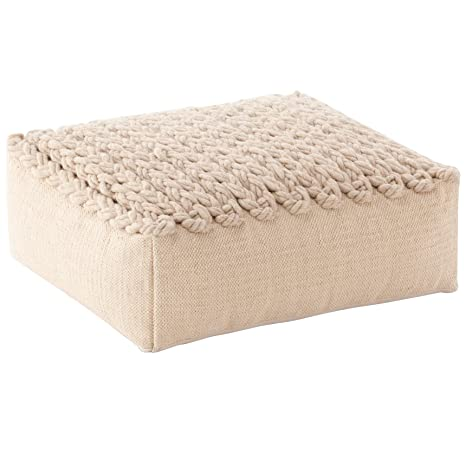 Trenzas Gan Spaces Pouf, beige, 70x70x35cm: Amazon.es: Hogar