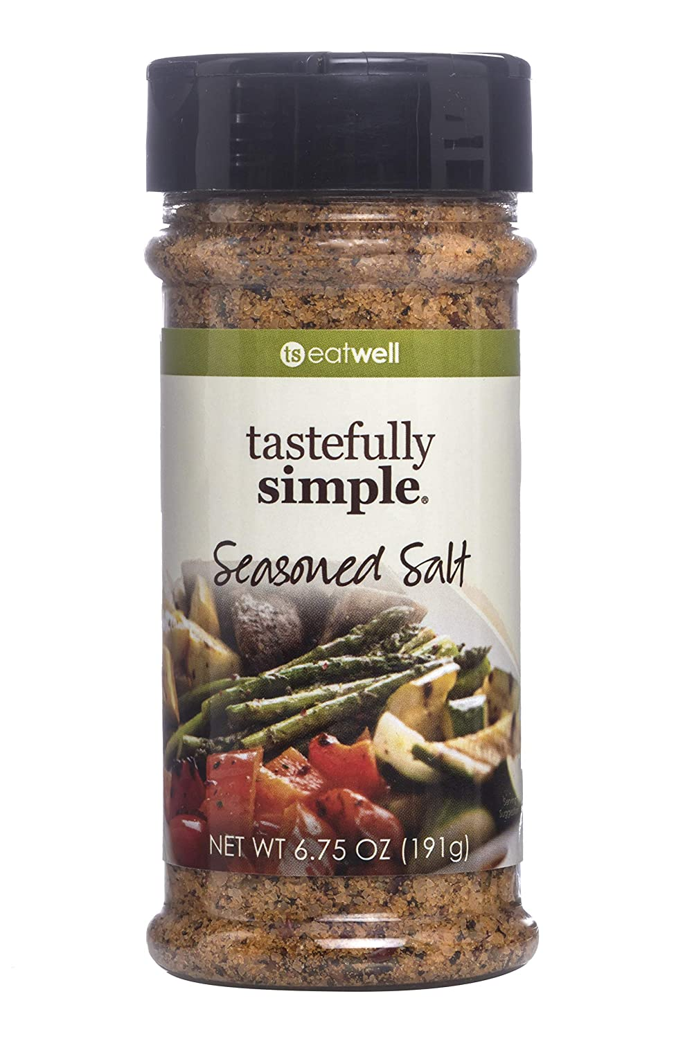 Tastefully Simple Seasoned Salt - Perfect for Beef, Chicken, Fish, Pork, Vegetables and Everything in Between - Kosher - 6.75 oz (1-Pack)
