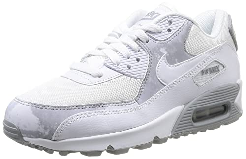 big sale f9afb 27a45 Nike Wmns Air Max 90 Print, Scarpe Sportive, Donna, Multicolore (White/