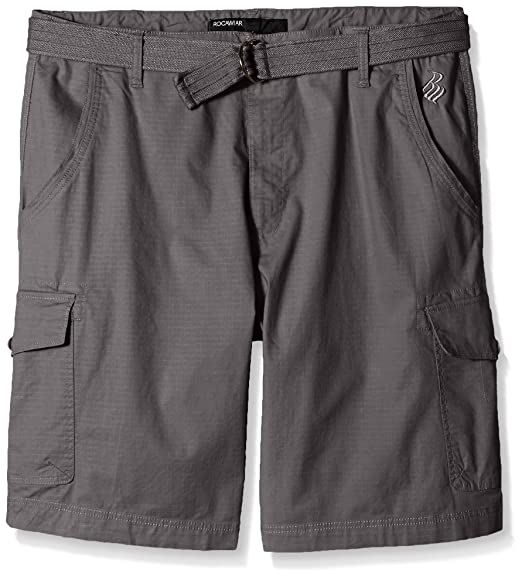 38f2a3ff25 Rocawear Men's Big and Tall Stretch Ripstp Short, Grey, ...