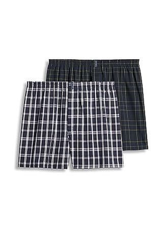 a6da1d78c2cc Jockey Men's Underwear Big Man Full Cut Boxer - 2 Pack, Navy Tartan/Navy
