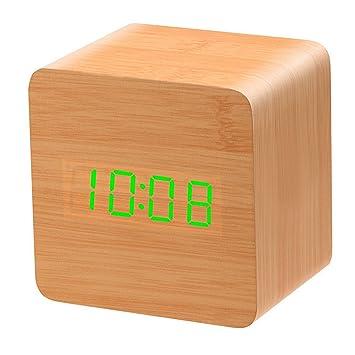 Fangda diseño divertido cubo reloj digital reloj despertador escritorio alarma reloj sound-sensitive Creative mesa