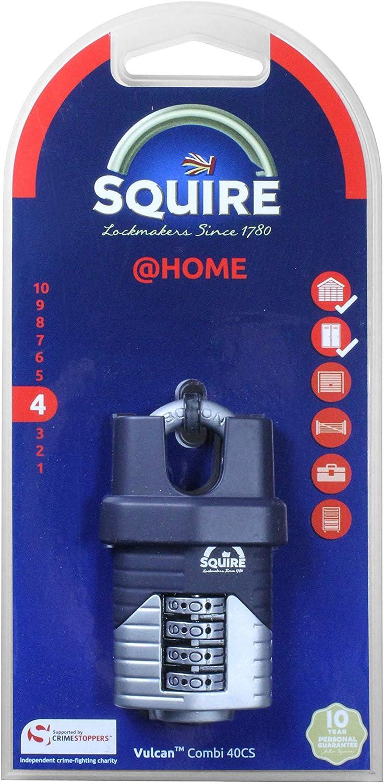 Henry Squire /& Sons Hsqvc40cs 40/mm Vulcan pr/ès de Bore /à Anse Cadenas /à Combinaison/ /Bleu
