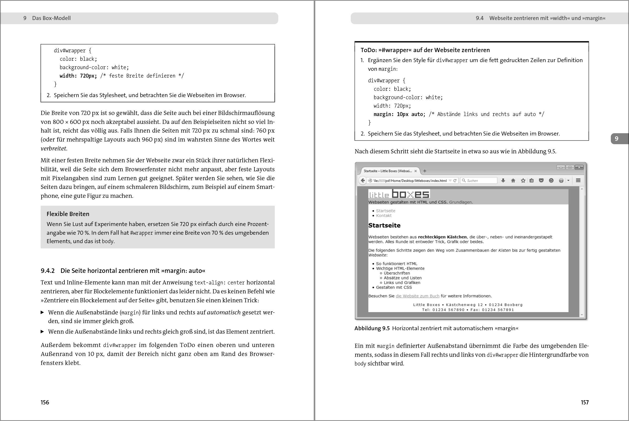 html bild zentrieren