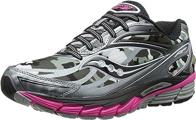 Saucony Ride 8 de la Mujer GTX Zapatilla de Running, Marfíl (Blanco/Negro/Rosa), 12 B(M) US: Amazon.es: Zapatos y complementos