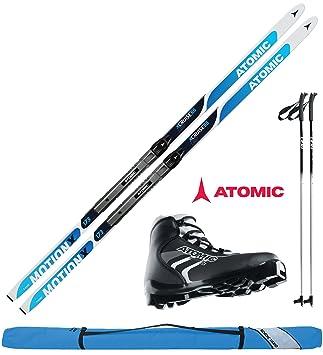 Atomic Langlaufski Set XCRUISE 55 in 193cm + Bindung + Schuhe + Stöcke + Skisack 1617