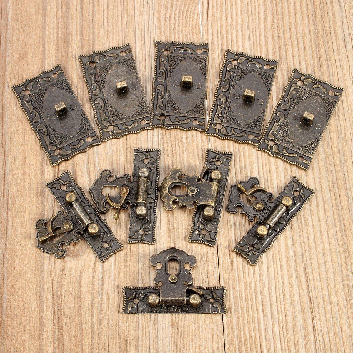Chenxi tienda 5sets bronce cierre de madera caja maleta Toggle Latch hebillas tono 5.1 cm x2.9 cm ChenXi Shop