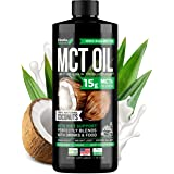 Organic MCT Oil for Brain, Energy & Weight Loss Boost - Made in USA - 100% Natural Pure Coconut Oil - Premium Metabolism Boos