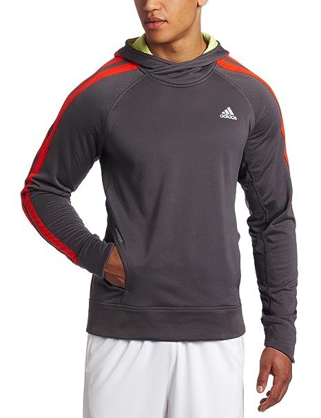 Adidas Hombres Respuesta del XX Icono Sudadera con Capucha Abajo Chaqueta, Hombre, Sharp Grey