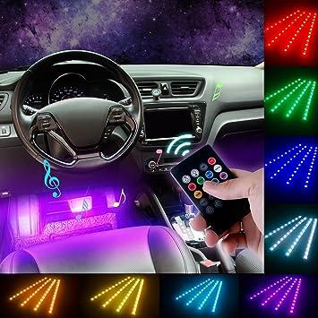 DITRIO 4x12LED Innenbeleuchtung Auto Lichtleiste mehrfarbliche LED ...