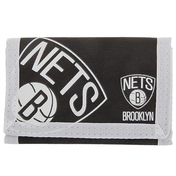Brooklyn Nets - Billetera/ Monedero/ Cartera de tela con velcro oficial para hombre/