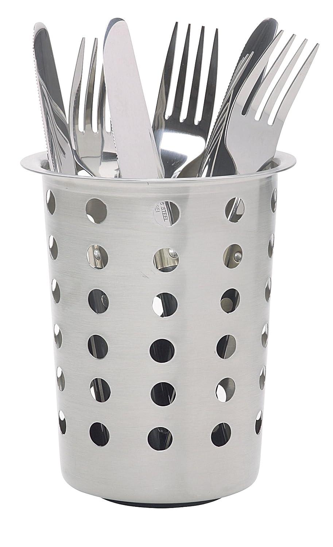 """KitchenCraft Modern Stainless Steel Cutlery Drainer, 12 x 12 x 14 cm (4.5"""" x 4.5"""" x 5.5"""") Kitchen Craft KCCADDYPRO"""