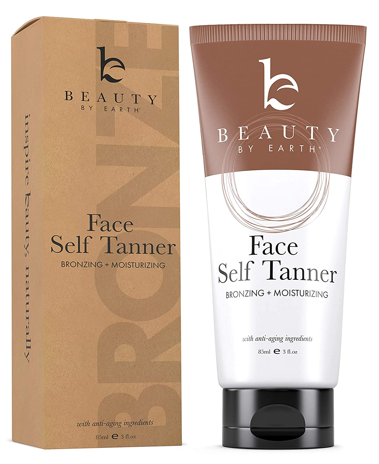 Self Tanner for Face with Organic & Natural Ingredients, Tanning Lotion, Sunless Tanning Lotion for Darker Bronzer Skin, Self Tanning Lotion - Self Tanners Best Sellers, Fake Tan (1 Pack)