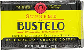Supreme By Cafe Bustelo, Espresso Style Coffee, Brick, 10 Ounce (Pack of