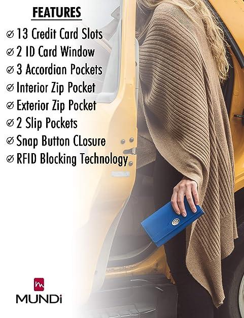 Amazon.com: Mundi File Master - Cartera de bloqueo RFID para ...