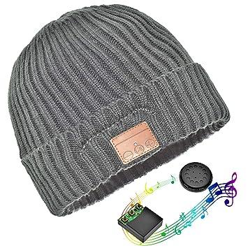 BonnetUnisexe Casque Fil Sans Bluetooth Chapeau 5jRcqA34LS